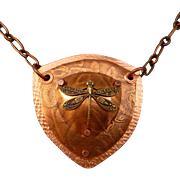 Dragonfly Shield Pendant Necklace