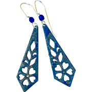 Organic Blue Patina Earrings