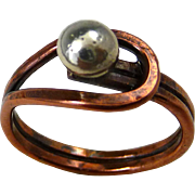 Copper And Sterling Silver Ring