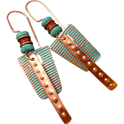 Copper Abstract Earrings