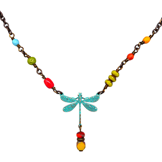 Colorful Dragonfly Necklace