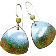 Impressionistic Enamel Earrings