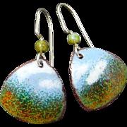 Impressionistic Enamel Earrings