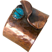 Rustic Copper And Turquoise Wrap Ring