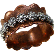 Copper And Sterling Silver Spinner Ring