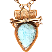 Larimar Copper Pendant Necklace