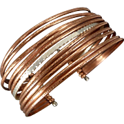 Copper And Sterling Silver Layering Cuff Bracelet