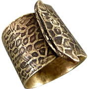 Textured Brass Bullet Shell Casing Ring Size 7.5