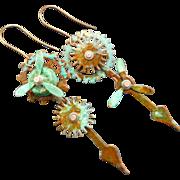 Steampunk Gear Propeller Earrings
