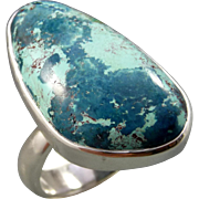 Azurite Sterling Silver Ring