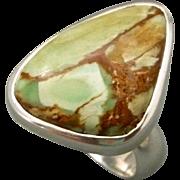 Variscite Sterling Sterling Silver Adjustable Ring