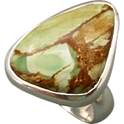 Variscite Sterling Sterling Silver Adjustable Ring