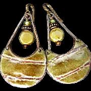 Rustic Enamel Earrings