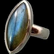 Labradorite Sterling Silver Ring
