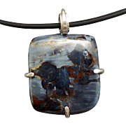 Pietersite Sterling Silver Pendant Necklace