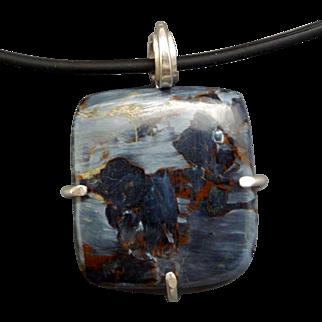 Pietersite Sterling Silver Pendant Necklace