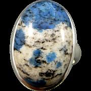 K2 Granite Sterling Silver Adjustable Ring