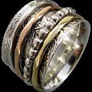 Mixed Metal Spinner Ring