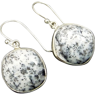 Dendritic Opal Sterling Silver Earrings