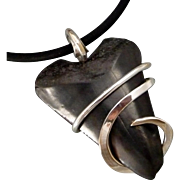 Fossilized Great White Shark Tooth Wrapped Pendant