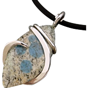 K2 Jasper Sterling Silver Wrapped Pendant Necklace