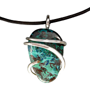 Sterling Silver Chrysocolla Pendant Necklace