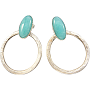 Amazonite Sterling Silver Post Earrings