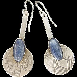 Blue Kyanite Sterling Silver Earrings