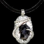 Dendrite Opal Agate Pendant Necklace