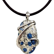 K2 Sterling Silver Wire Wrap Pendant Necklace