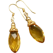 Citrine Quartz Gold Vermeil Earrings