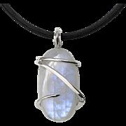 Blue Moonstone Pendant Necklace
