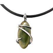 Green Royal Imperial Jasper Pendant Necklace