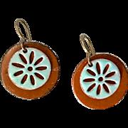 Layered Enamel Earrings