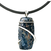 Sodalite Sterling Silver Wrapped Necklace