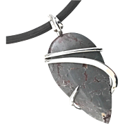 Sonoran Dendrite Sterling Silver Wire Wrap Pendant Necklace