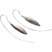 Sterling Silver Puffed Marquise-Contemporary Modern Earrings