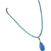 Ethiopian Welo Opal-Rainbow Moonstone Pendant-Arizona Turquoise-Neon Apatite-18k Solid Gold Necklace-October Birthstone Necklace