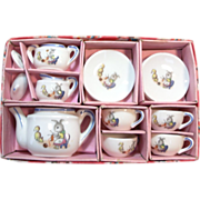 Vintage Miniature Toy Doll House Child's Tea Set Japan in Box