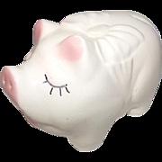Vintage Piggy Bank Mid Century Marietta Modern Figural Pig