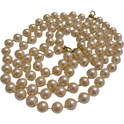"30"" Strand Monet Faux Pearl Necklace"