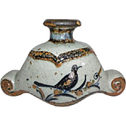 Jorge Wilmot Mexican Pottery Stoneware Vessel Vase Candle Holder Decanter signed