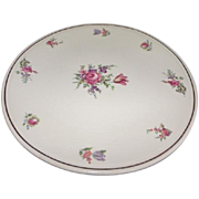 Homer Laughlin Priscilla Household Institute Cake plate Pink Rose