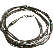 Native 'Liquid Silver' Multi-Strand Tube bead Necklace - Red Tag Sale Item