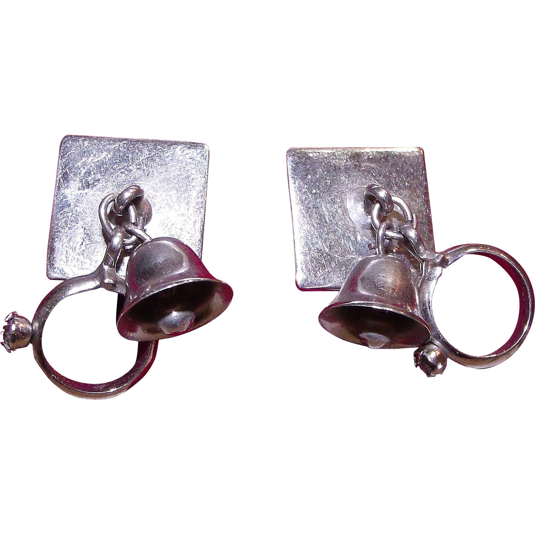 Wedding Bells / Ring charm Cuff Links