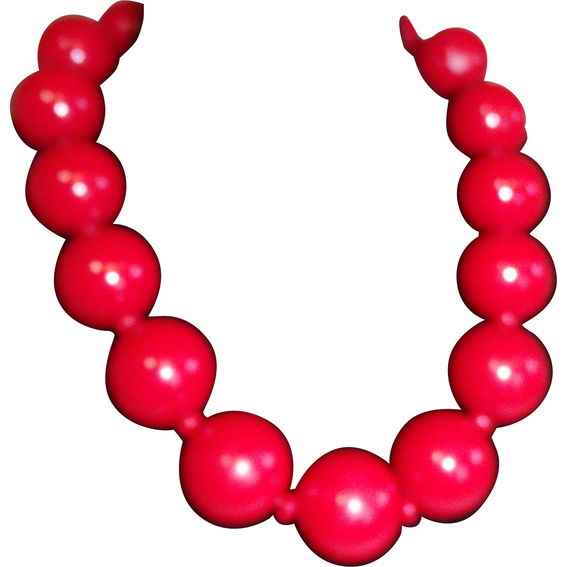 Big Red Ball Necklace / Choker Acrylic Chunky Bold Runway