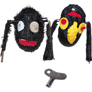 Two Key Wind-up Fuzzy Toy Spiders