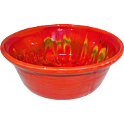 California Original Art Pottery Lava / Drip Bowl Red/Orange