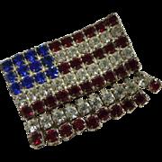 Unique Rhinestone American Flag Pin Eye Catching Motion