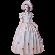 Plaster Statue/Figurine of Lady Chalk Ware